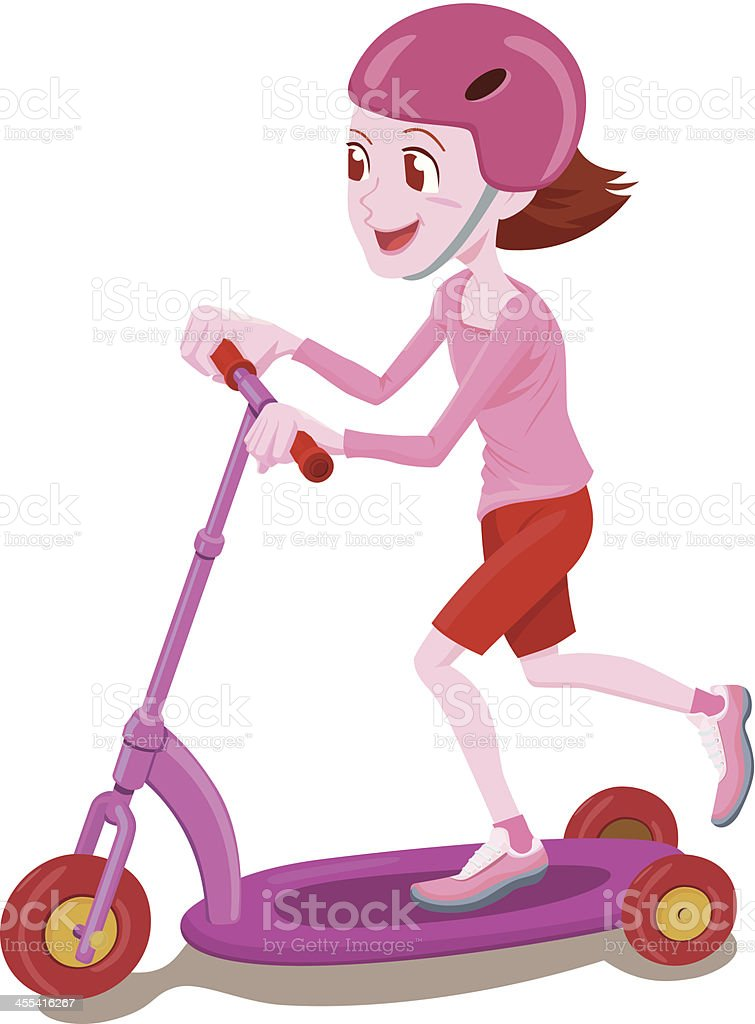 Scooter kid royalty-free stock vector art