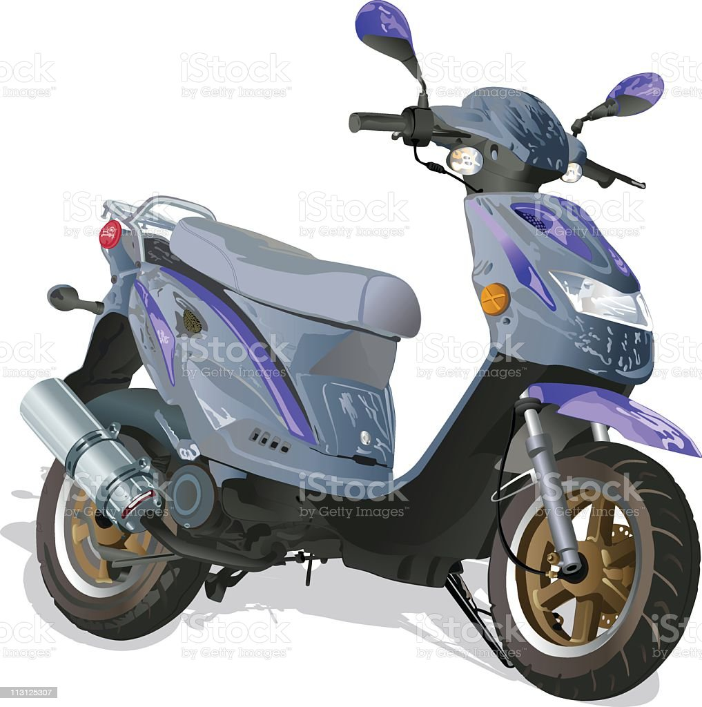 Scooter (Vector) royalty-free stock vector art