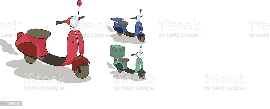 Scooter royalty-free stock vector art
