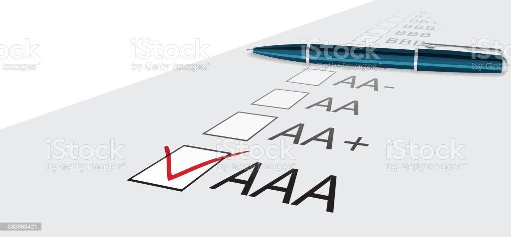 Score rank vector art illustration