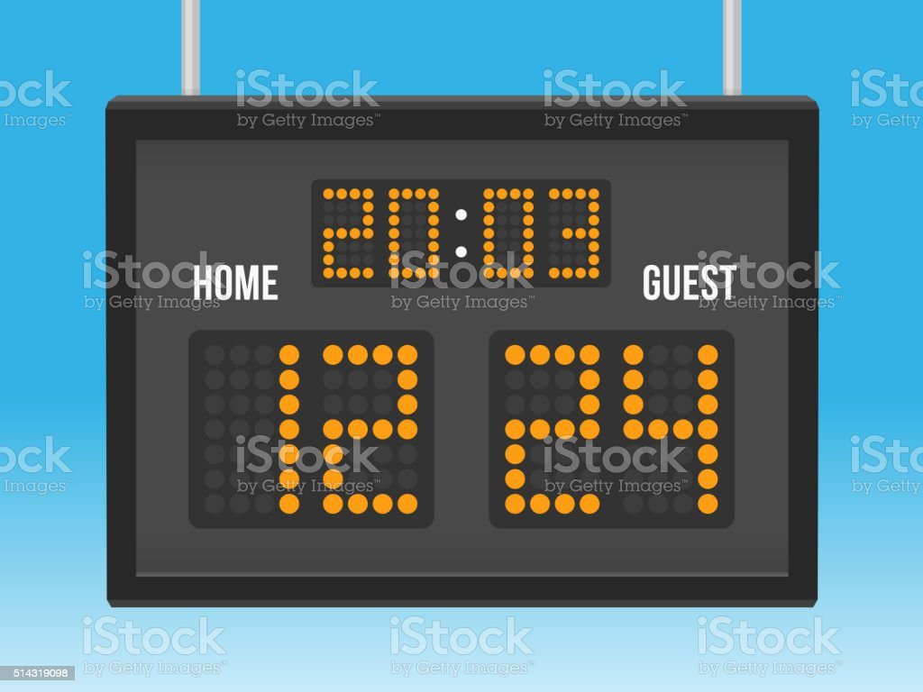 Scoreboard vector art illustration