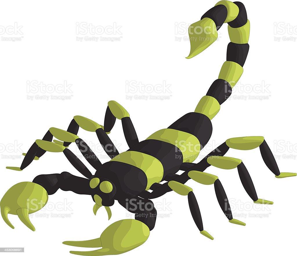 Scorpion stock vecteur libres de droits libre de droits