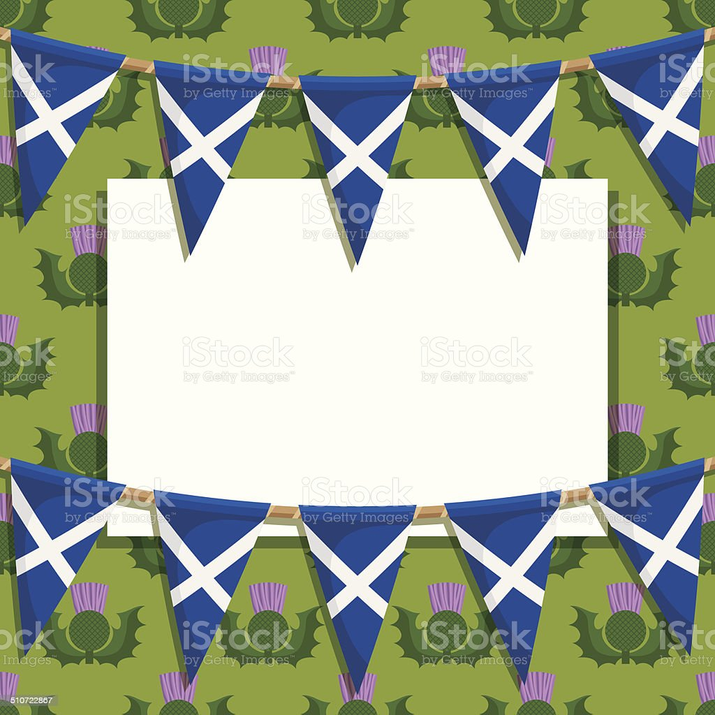 scotland decoration vector art illustration