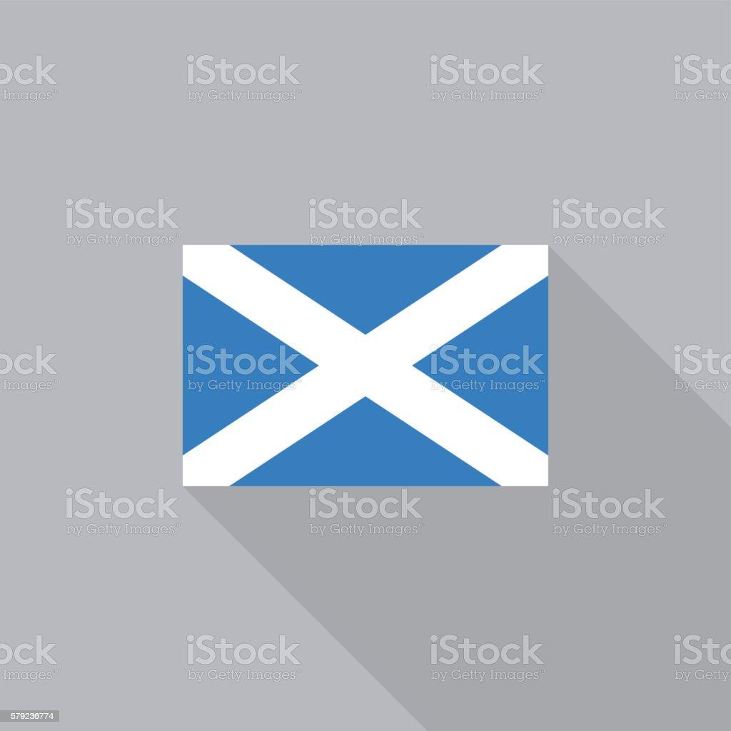 Scotland flag flat design vector illustration vector art illustration