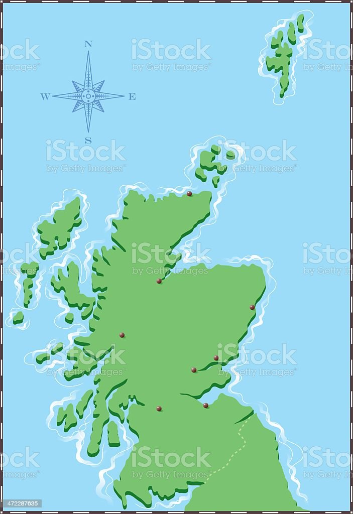 Scotland vector art illustration
