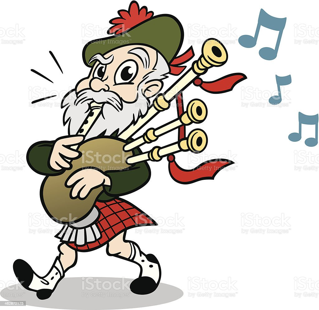 scotsman with bagpipes stock vector art 462872175 istock scottish bagpipe clipart bagpipe clipart free