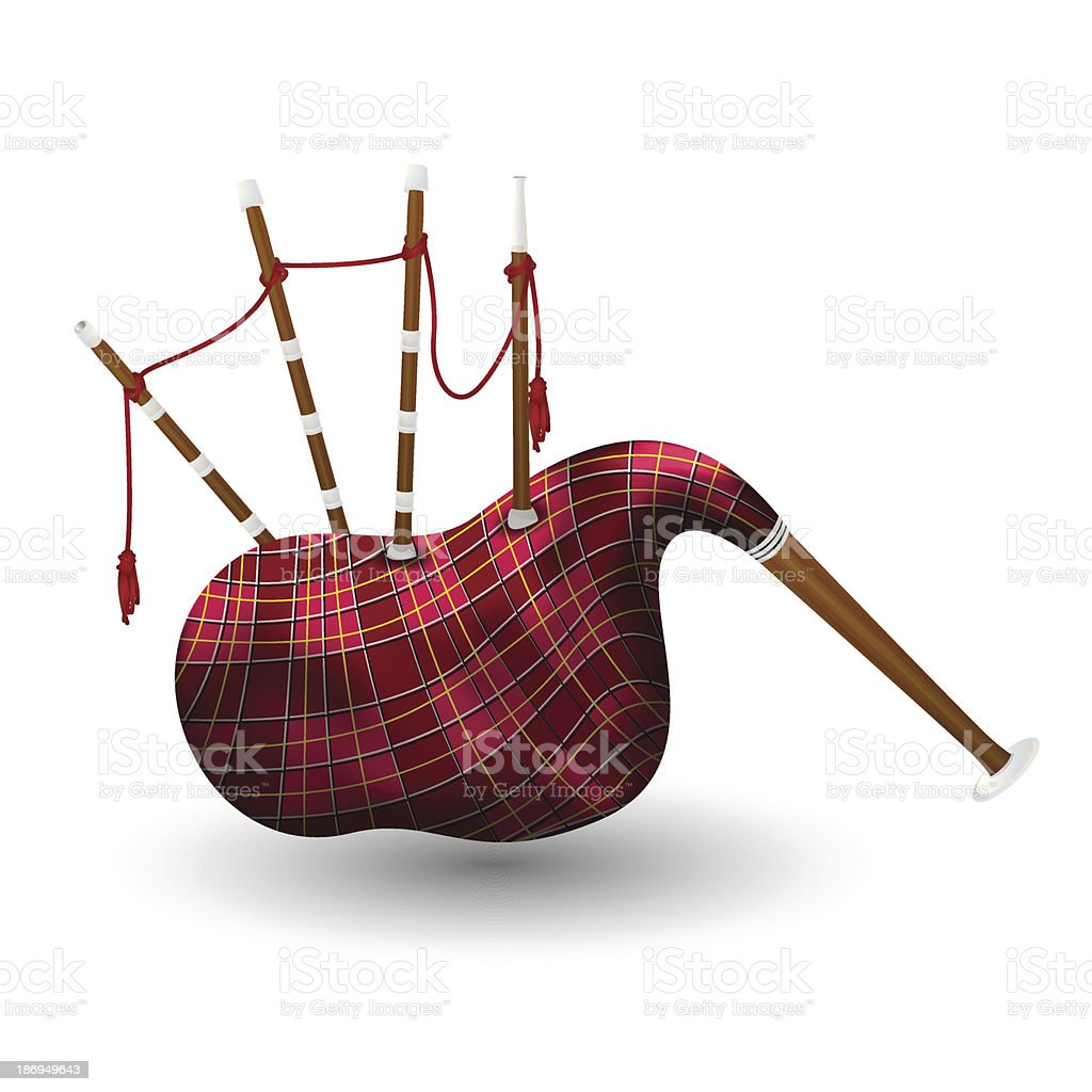 Scottish bagpipe royalty-free stock vector art