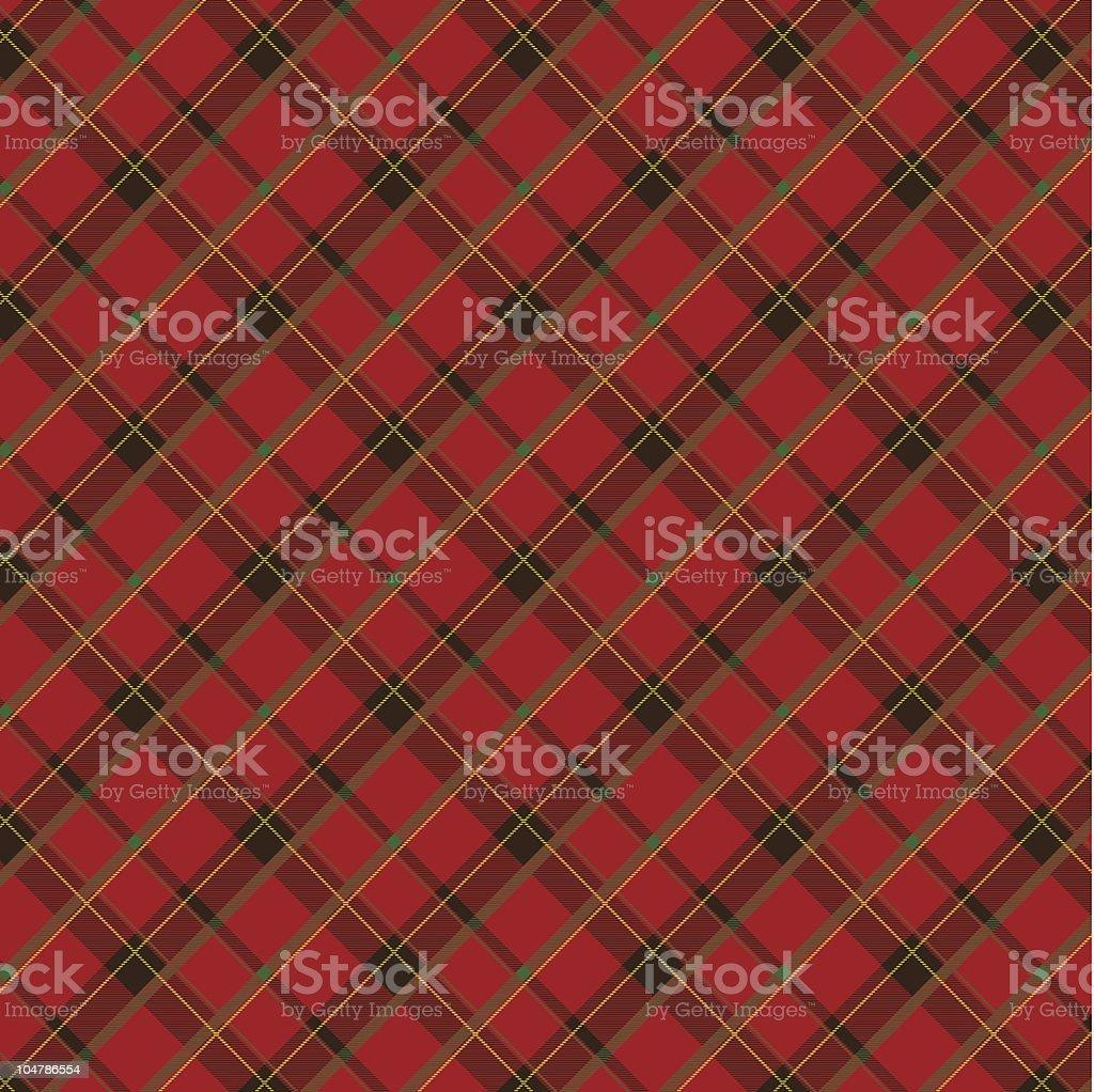 Scottish fabric royalty-free stock vector art