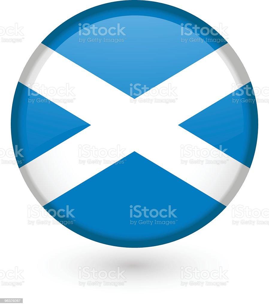 Scottish flag button vector art illustration