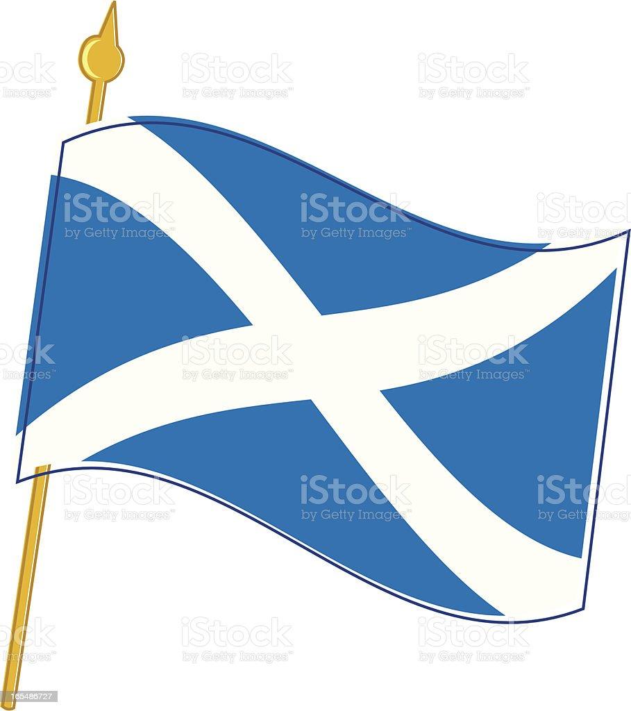 Scottish Flag vector art illustration