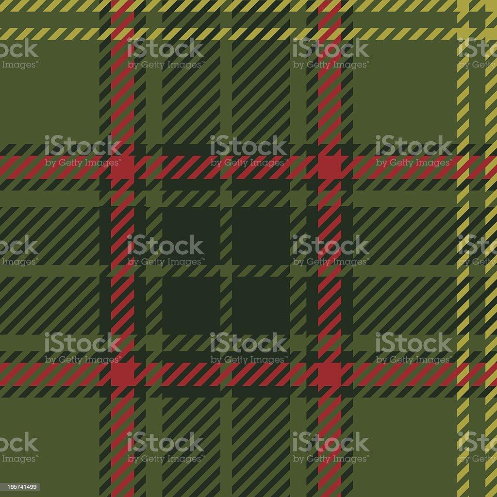 Scottish green tartan. vector art illustration
