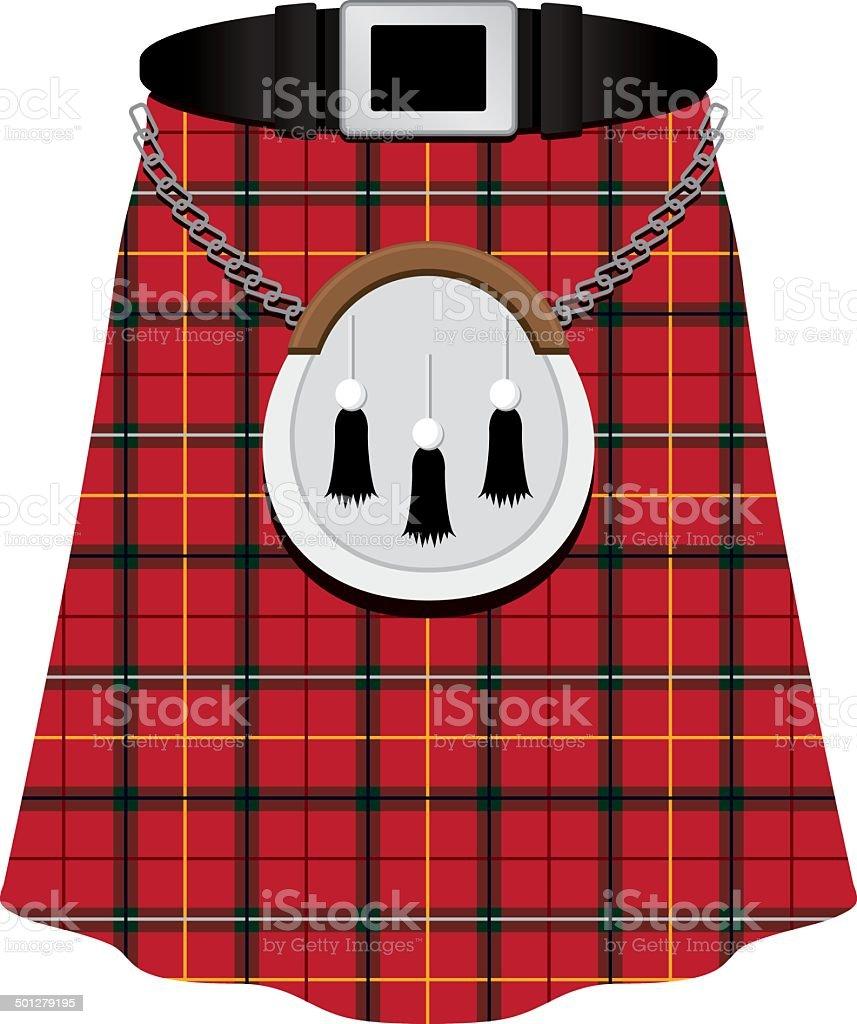 Scottish Kilt vector art illustration