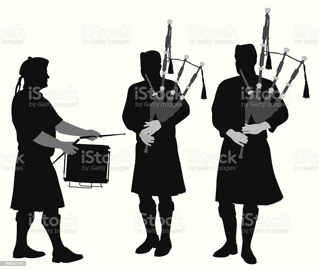 Scottish Music Vector Silhouette royalty-free stock vector art