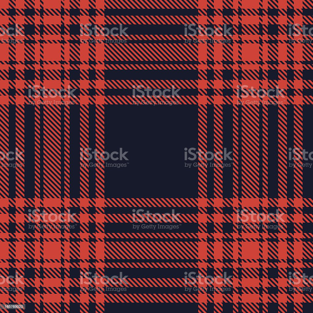 Scottish red tartan. vector art illustration