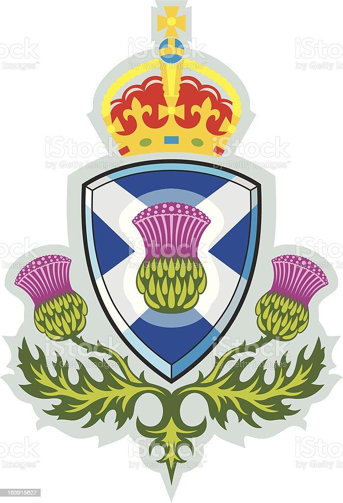 Scottish thistle .Badge of Scotland vector art illustration