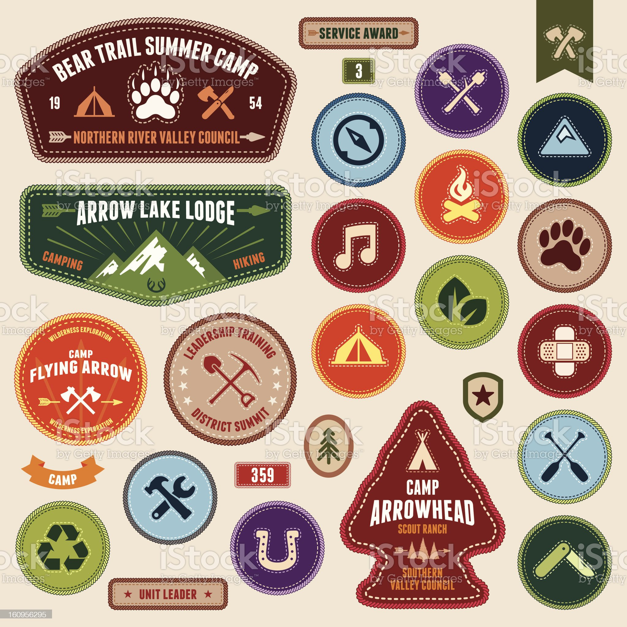 Scout badges royalty-free stock vector art