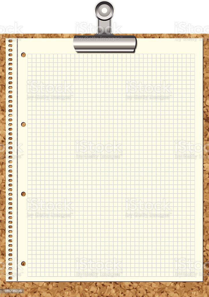 Scrap Paper on a Clipboard royalty-free stock vector art