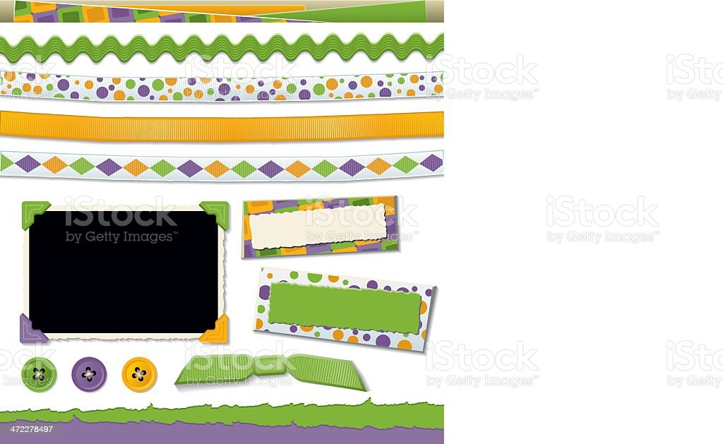 Scrapbook Design Elements vector art illustration
