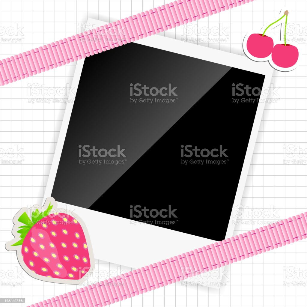 scrapbook elements with photos frame vector illustration royalty-free stock vector art