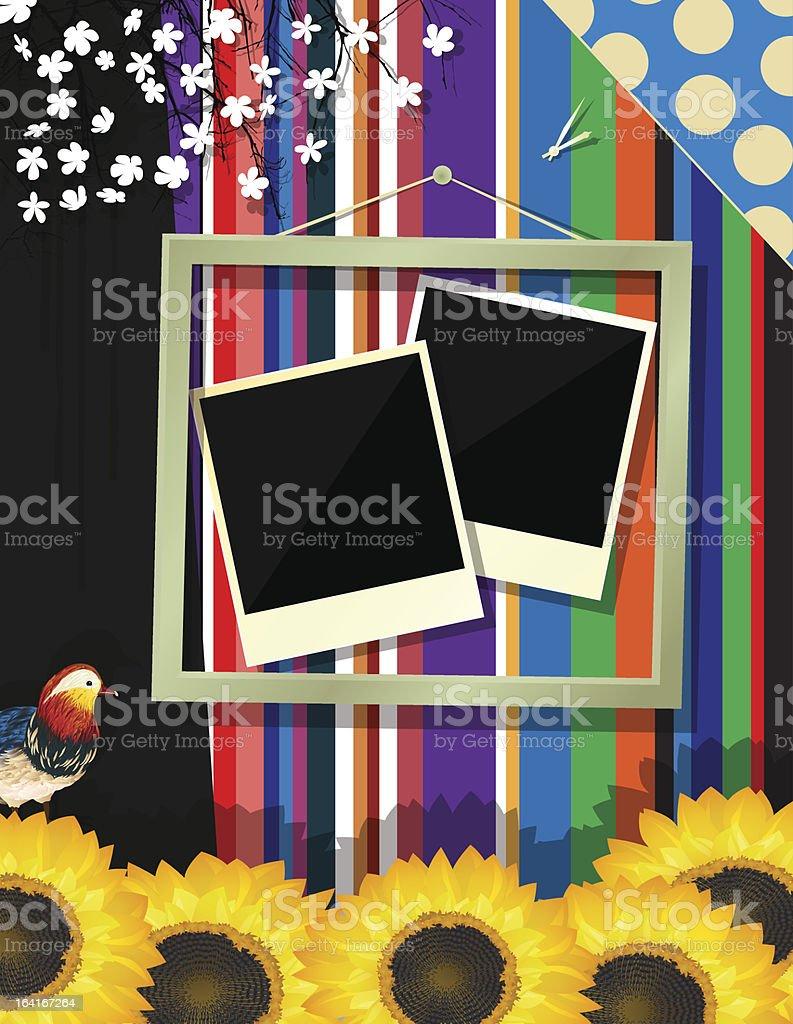 Scrapbook frame royalty-free stock vector art
