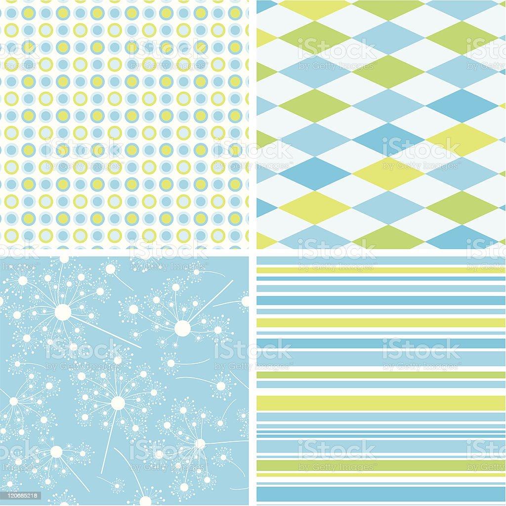 Scrapbook patterns for design royalty-free stock vector art
