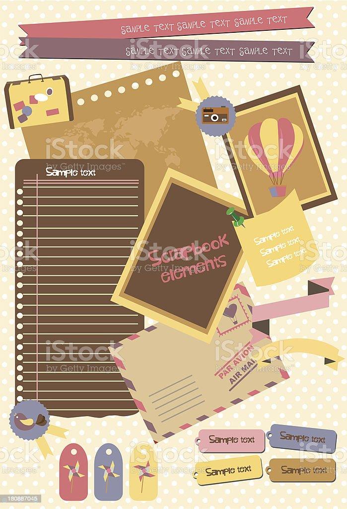 Scrapbook Set royalty-free stock vector art