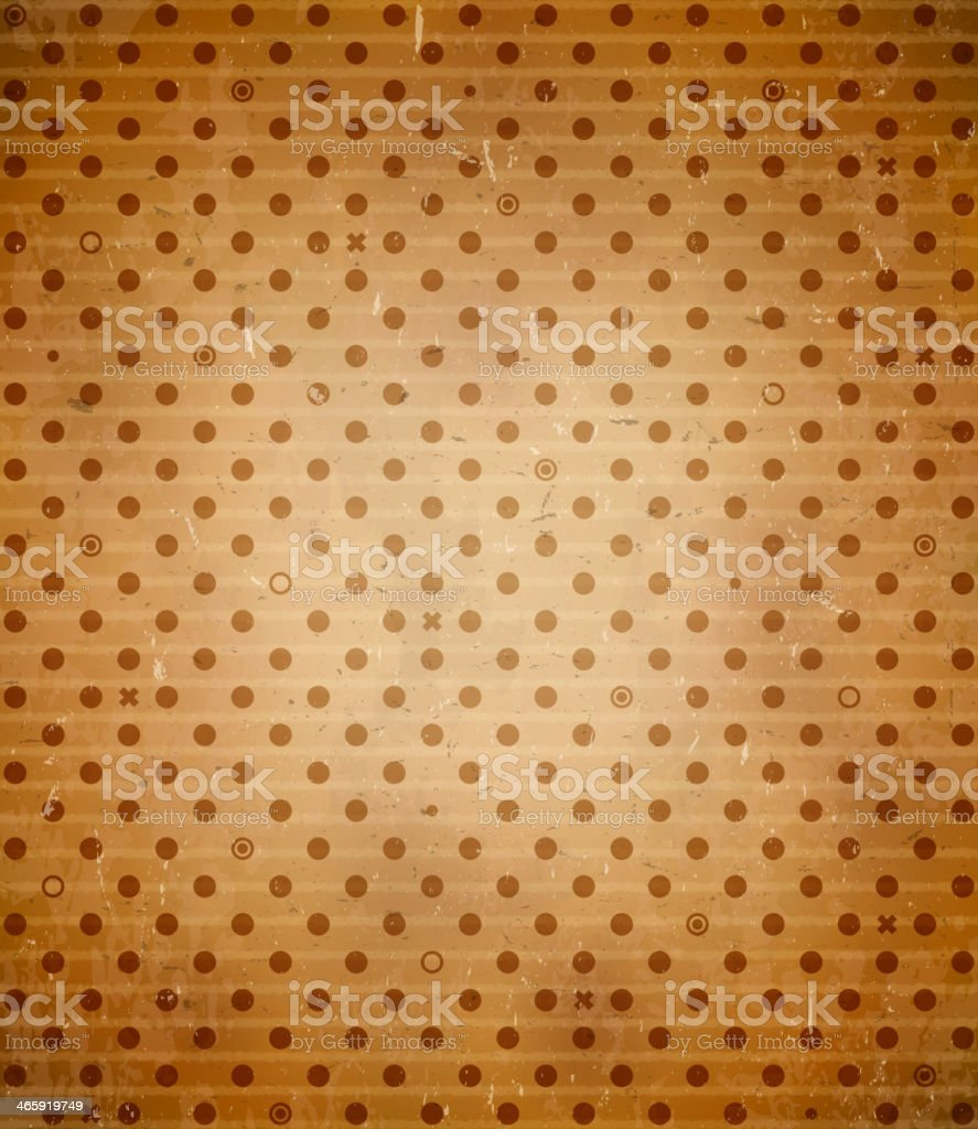 Scratched cardboard with polka dot pattern royalty-free stock vector art