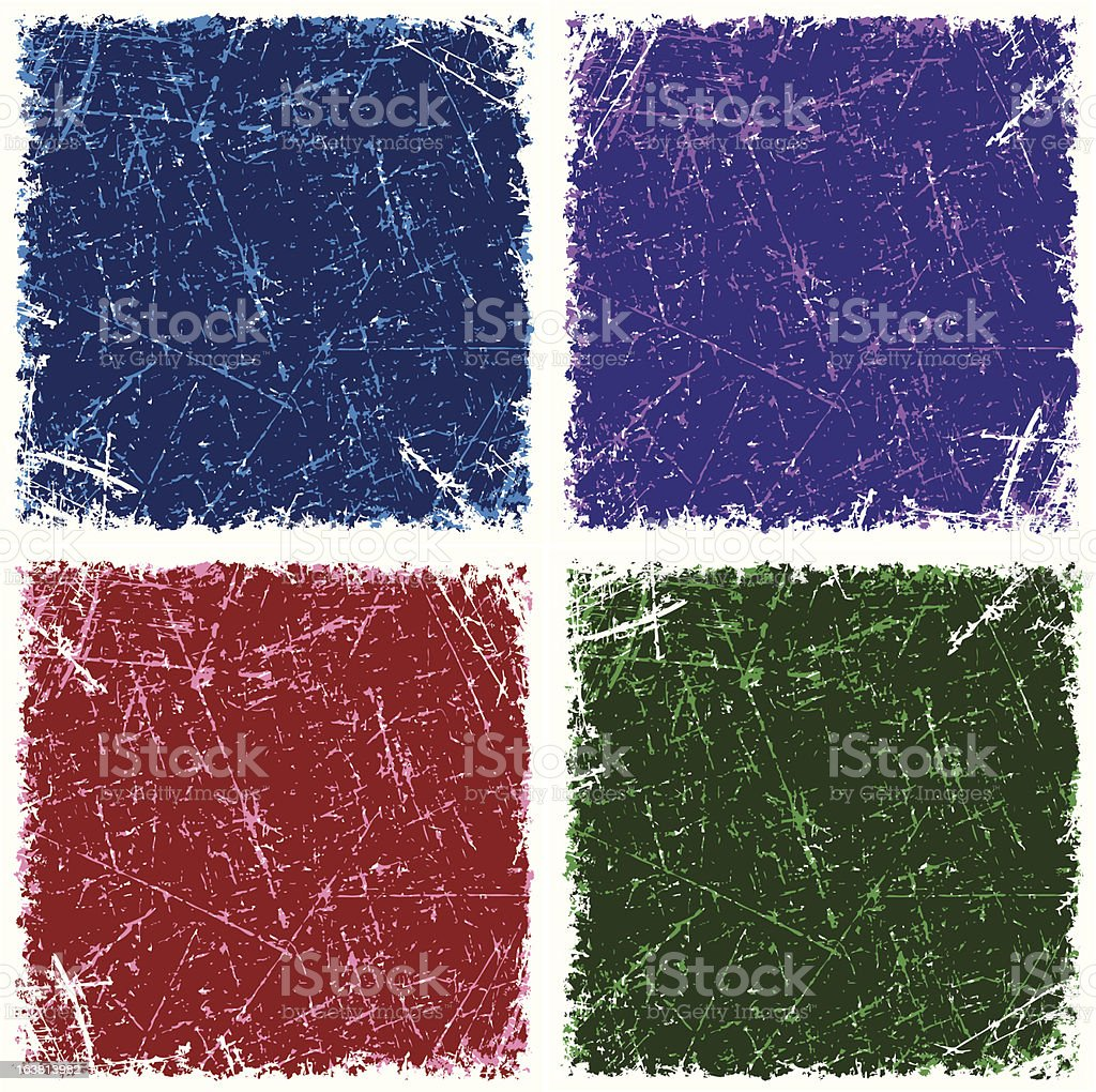Scratched grunge background royalty-free stock vector art