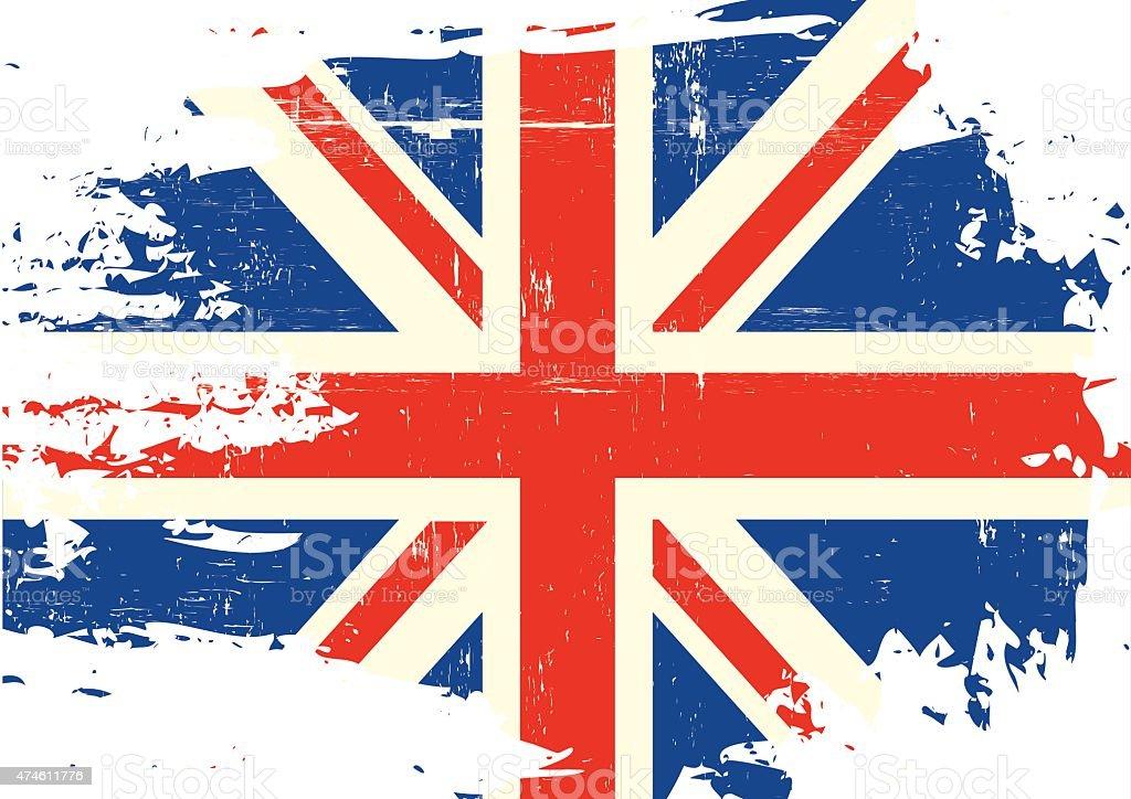Scratched UK Flag vector art illustration