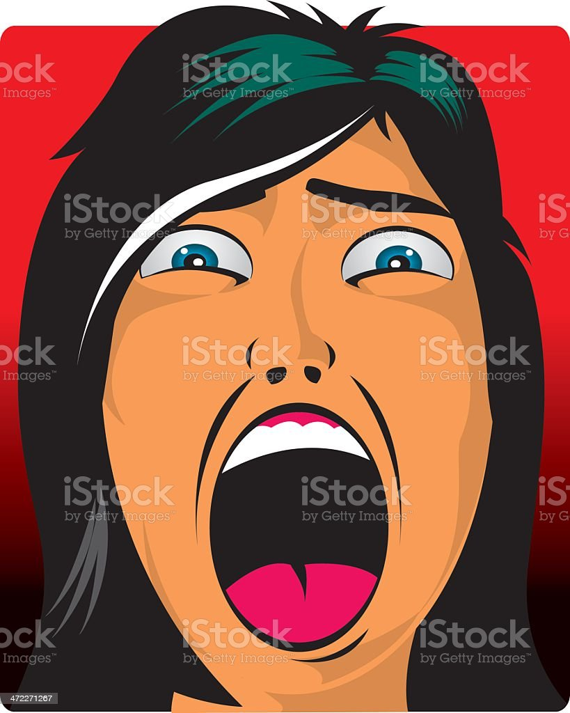Scream if you want vector art illustration