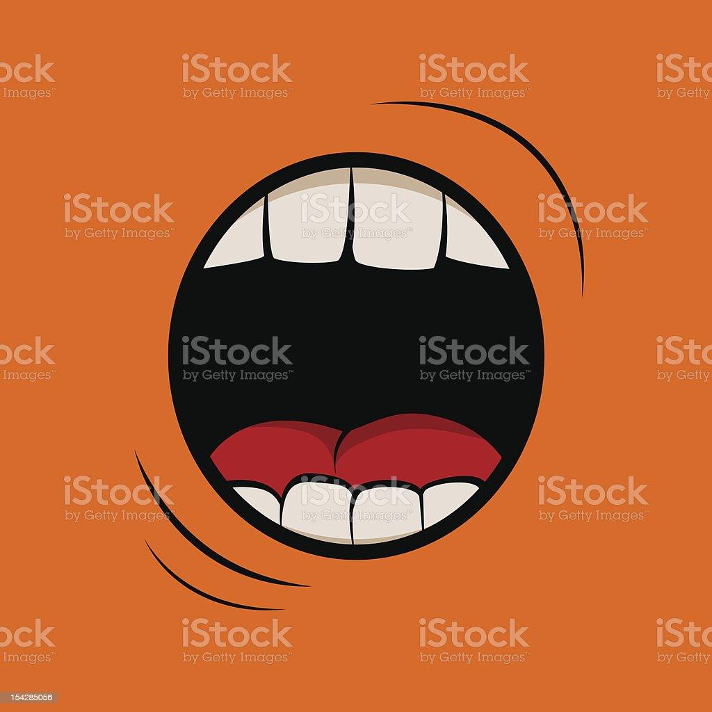 Scream vector art illustration
