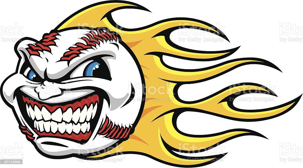 Screamin' Baseball royalty-free stock vector art