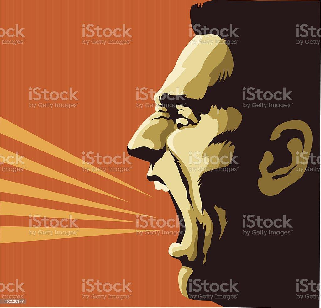 Screaming Man vector art illustration