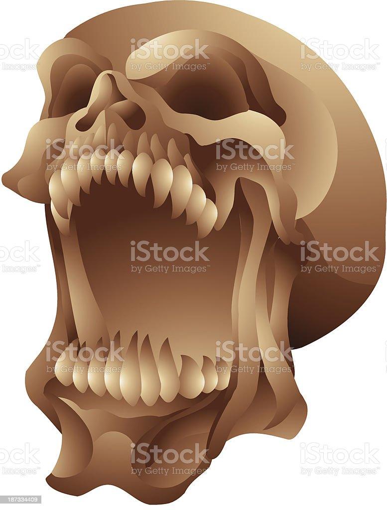 screaming skull royalty-free stock vector art