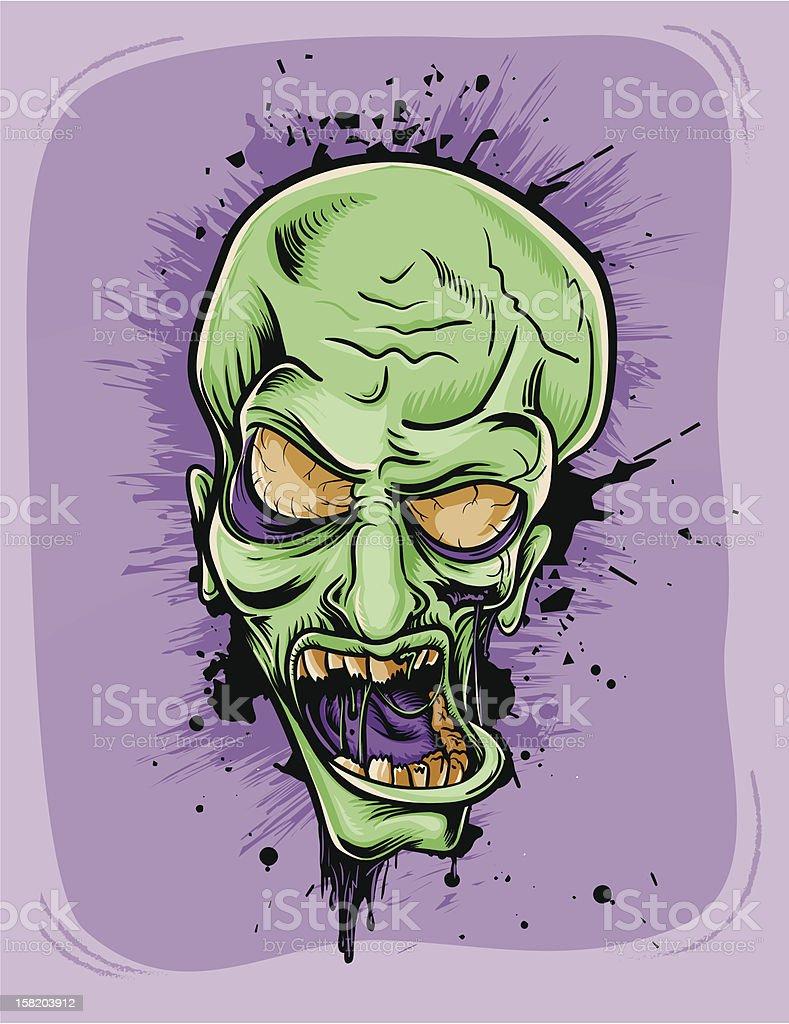 Screaming zombie. royalty-free stock vector art