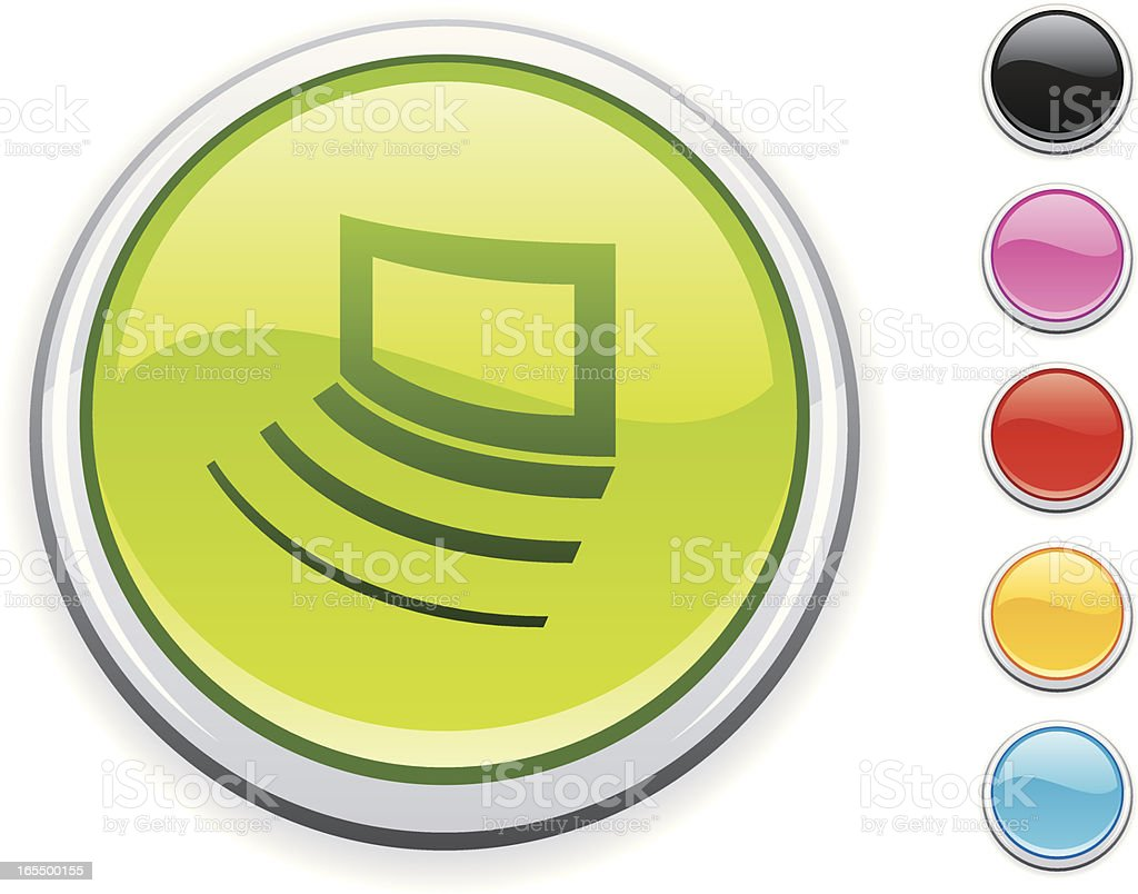 Screen icon royalty-free stock vector art