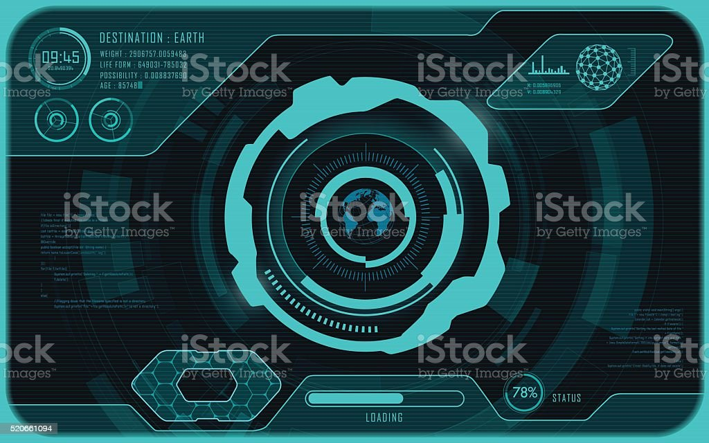 screen vector art illustration