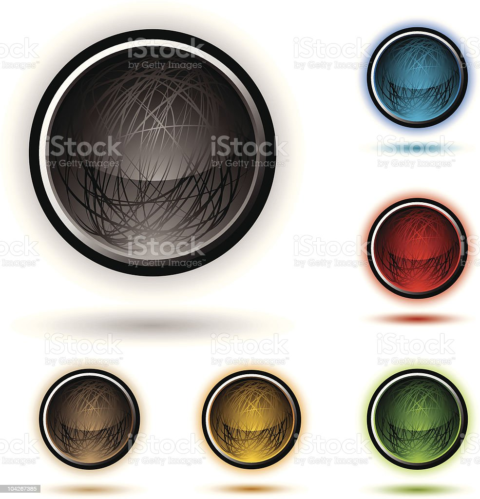 scribble button glow royalty-free stock vector art