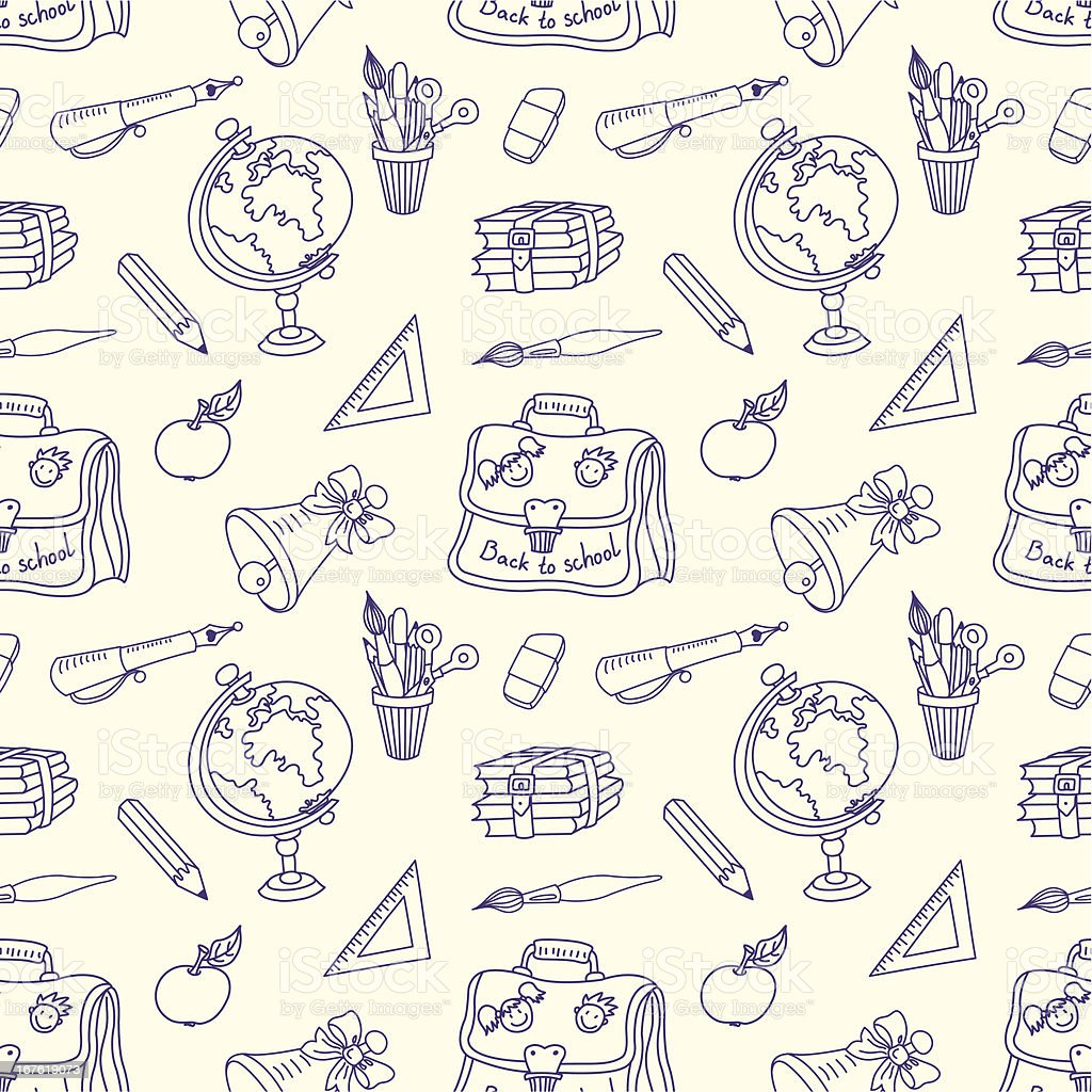Scribble in a writing-books seamless pattern. royalty-free stock vector art