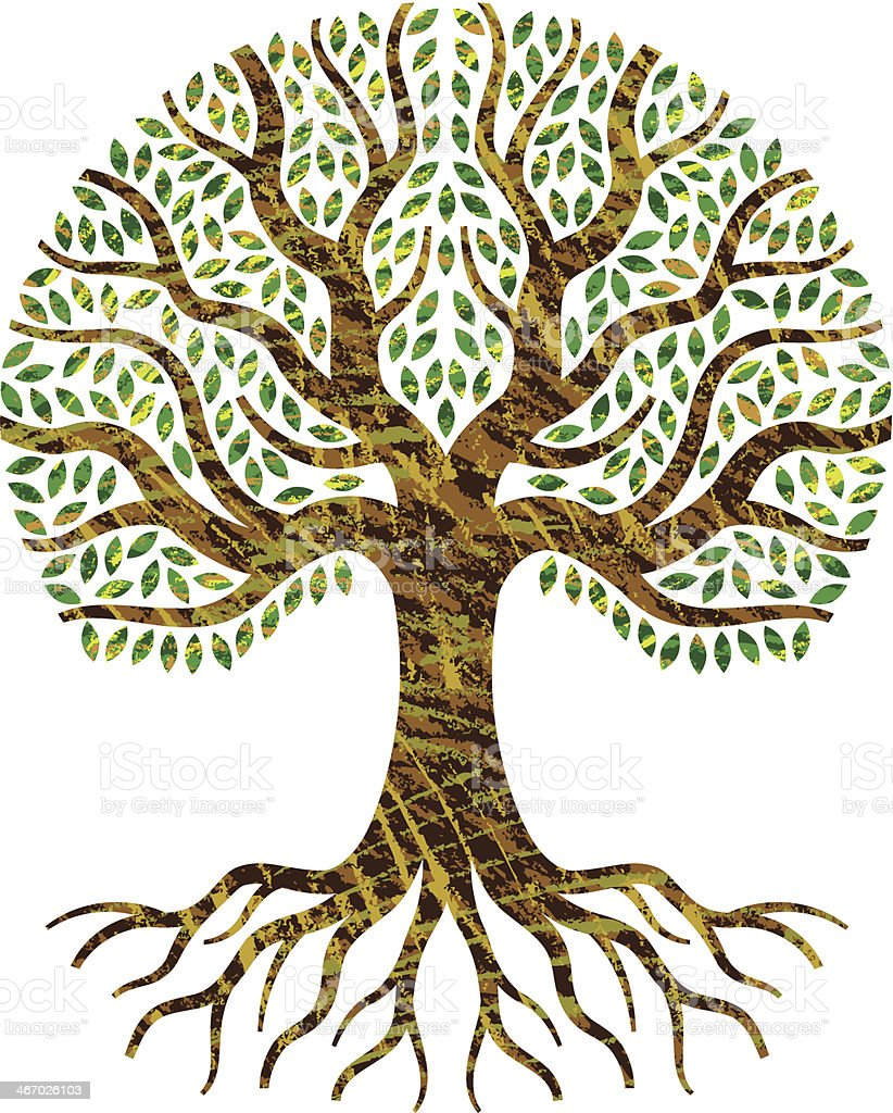 Scribble tree of life. royalty-free stock vector art