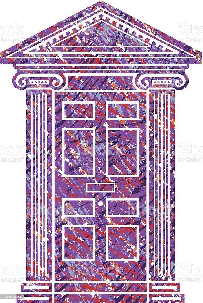 Scribbled door vector art illustration
