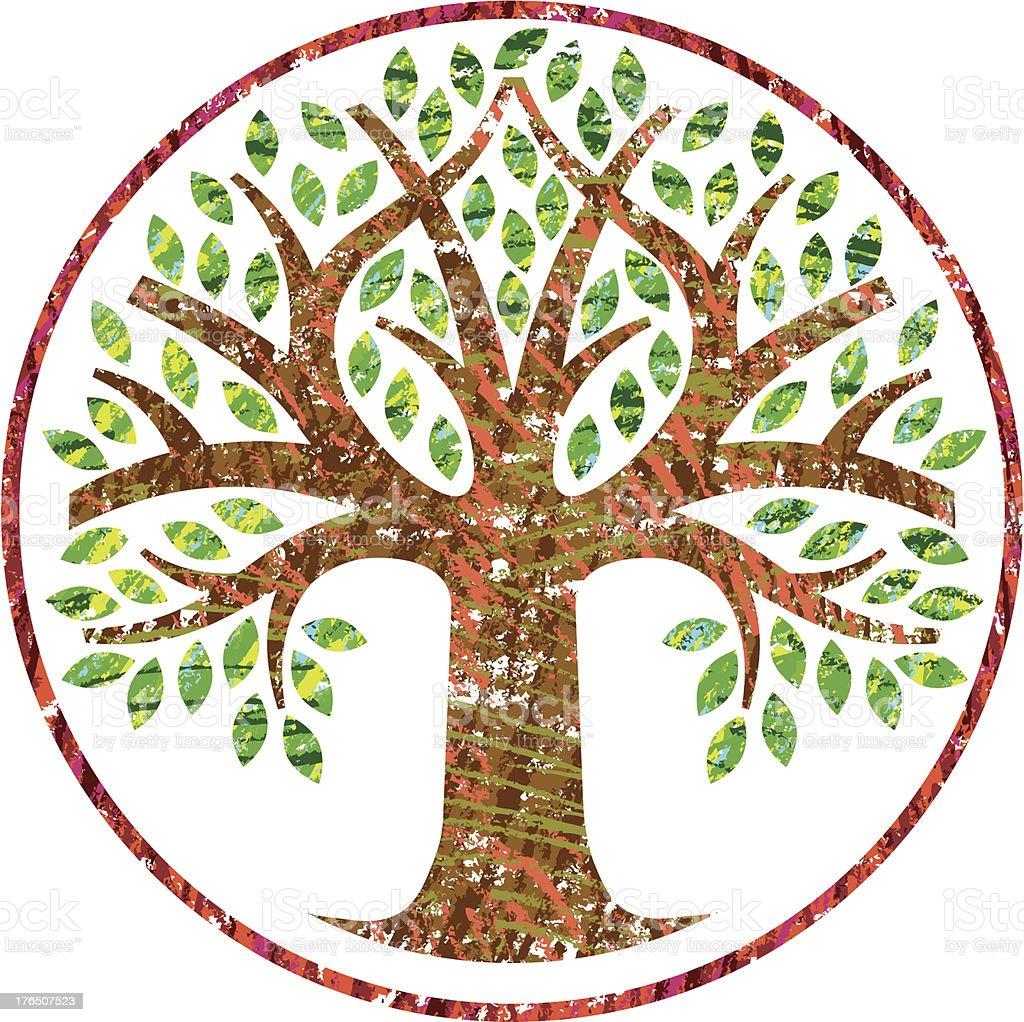 Scribbled simple round tree royalty-free stock vector art