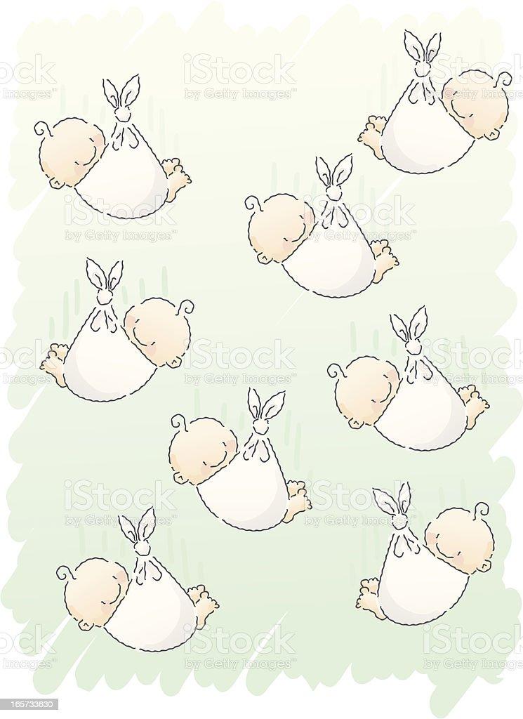 scribbles: baby shower vector art illustration