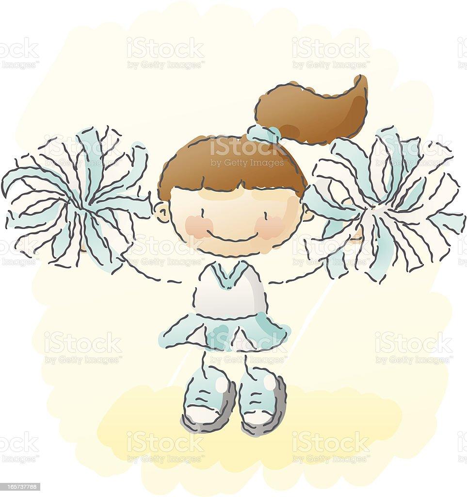 scribbles: cheerleader royalty-free stock vector art