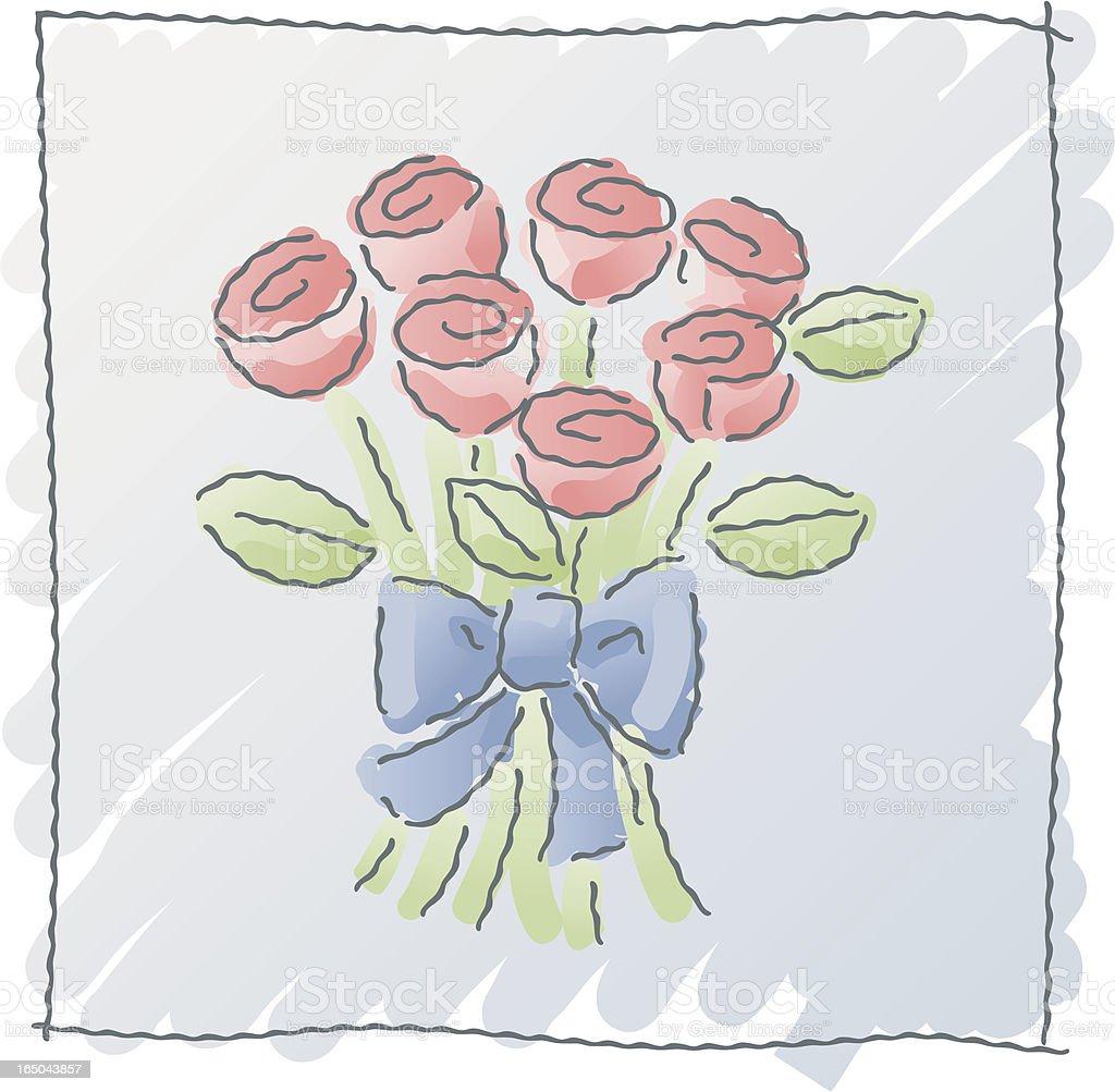 scribbles: flower bouquet royalty-free stock vector art