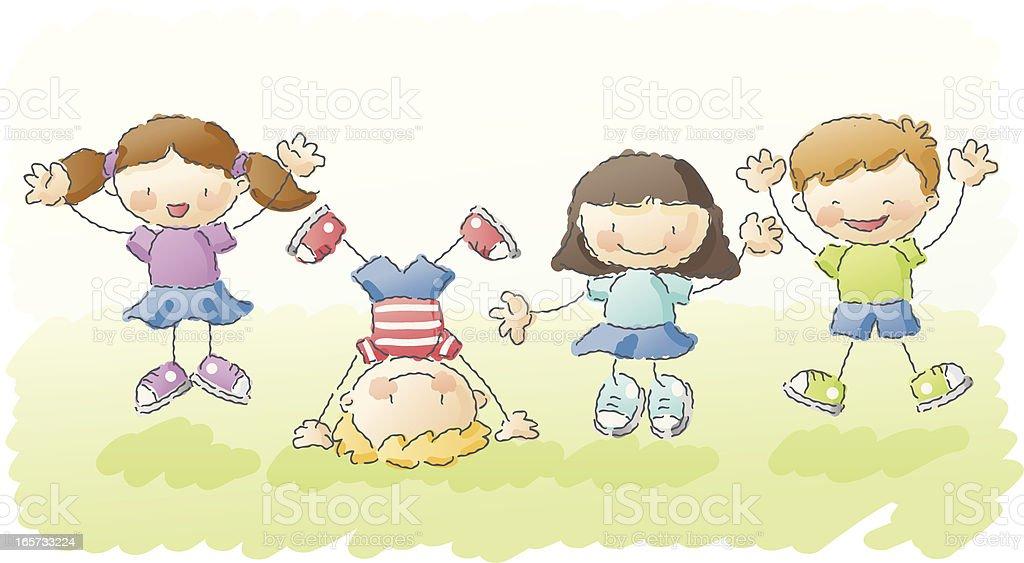 scribbles: jump for joy! vector art illustration