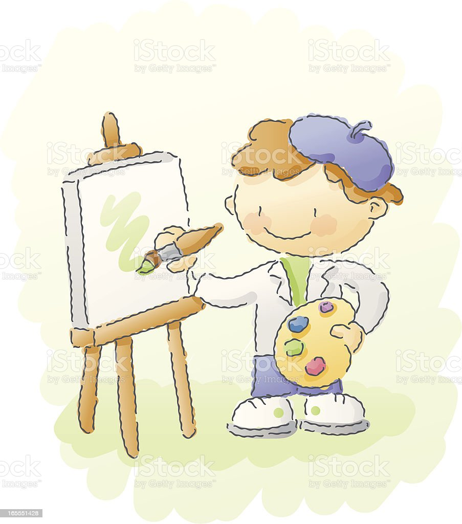 scribbles: little artist vector art illustration