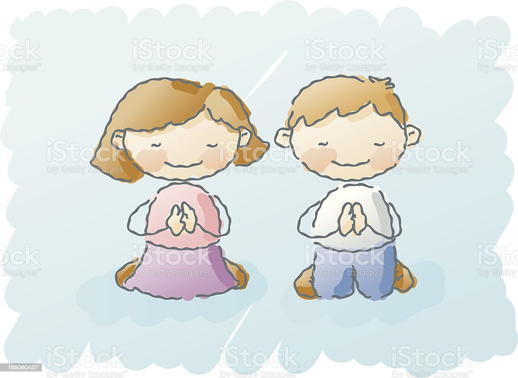 scribbles: prayer royalty-free stock vector art