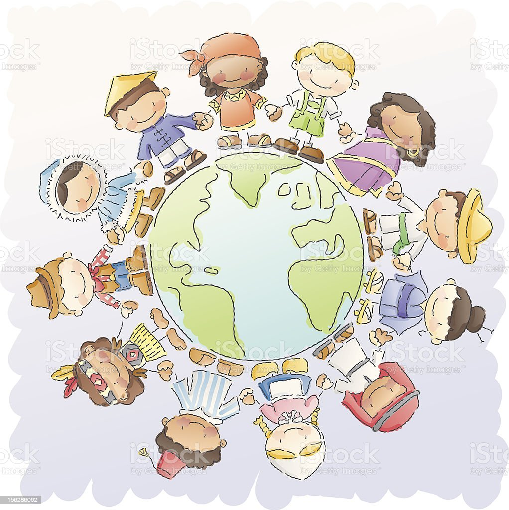 scribbles: small world vector art illustration
