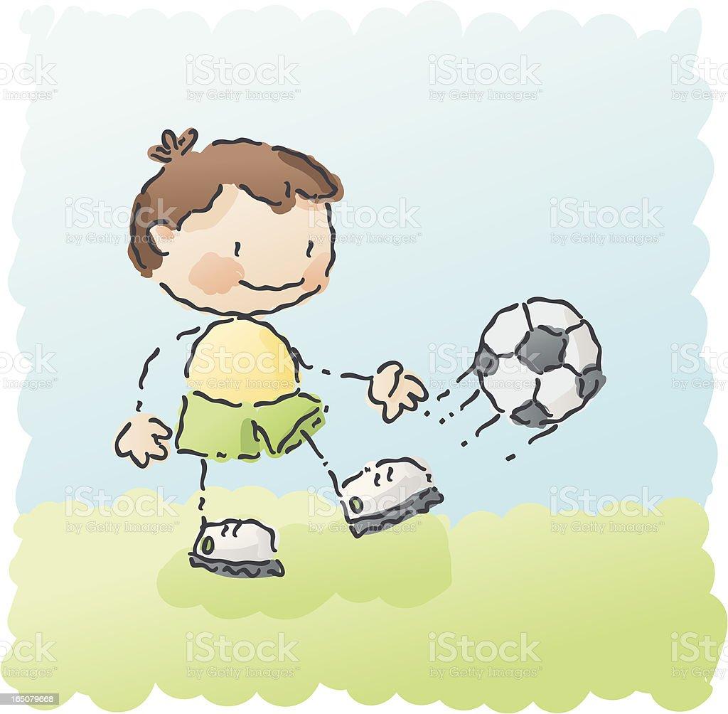 scribbles: soccer boy royalty-free stock vector art
